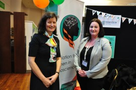 Clare Morgan and IAWG President Dr Aoife Blowick (NUIG-iCRAG)