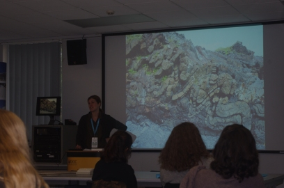Impressive geology shown by Dr Anthea Lacchia